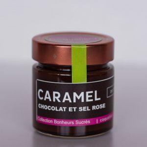 Caramel chocolat et sel rose